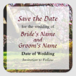 Magnolias and Forthysia Save the Date Sticker