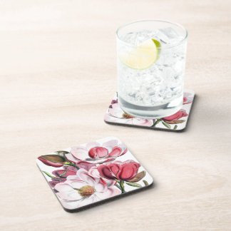 Magnolias Floral Coasters Set