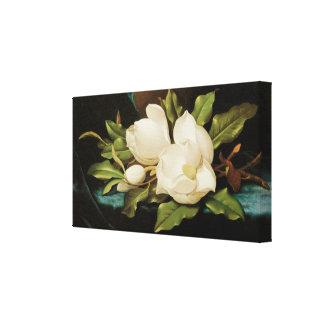 Magnolias gigantes, Heade, flores del Victorian Impresion De Lienzo