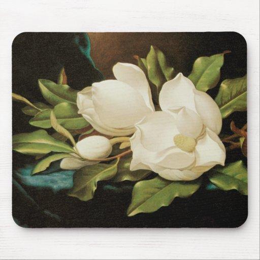 Magnolias gigantes, Heade, flores del Victorian Alfombrilla De Raton