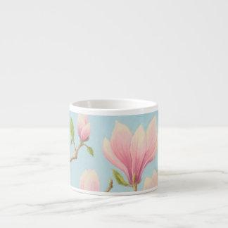 Magnolias in Bloom Wisley Gardens Espresso Mug 6 Oz Ceramic Espresso Cup
