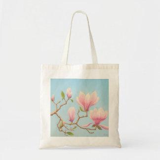 Magnolias in Bloom, Wisley Gardens in Pastel Tote Bag