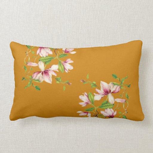 Magnolias Lumbar Pillow Zazzle