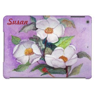 Magnolias meridionales blancas Painterly en la Carcasa iPad Air