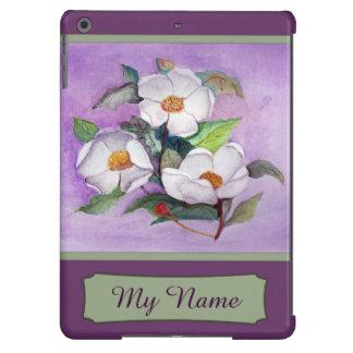 Magnolias meridionales blancas Painterly en la Carcasa Para iPad Air