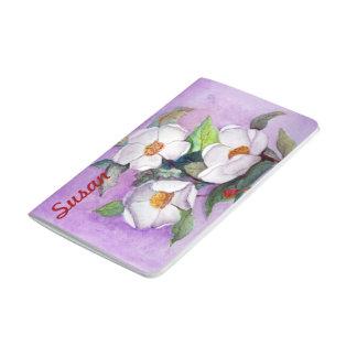 Magnolias meridionales blancas Painterly en la Cuaderno Grapado