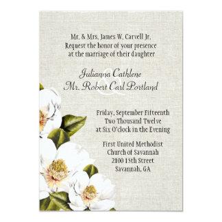 """Magnolias meridionales elegantes de la belleza que invitación 5"""" x 7"""""""