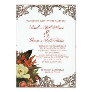 Magnolias n Bird of Paradise - Custom Wedding Card