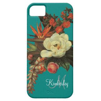 Magnolias n Bird of Paradise w Rose Orange iPhone SE/5/5s Case