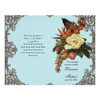 Magnolias n Bird of Paradise - Wedding Program
