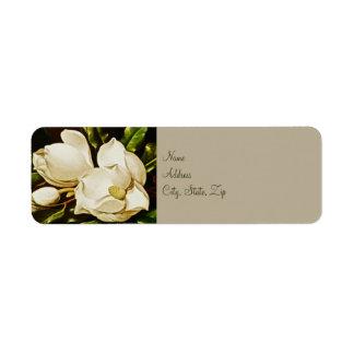 Magnolias que casan etiquetas del remite etiqueta de remite