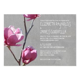 Magnolias que casan invitaciones anuncio personalizado