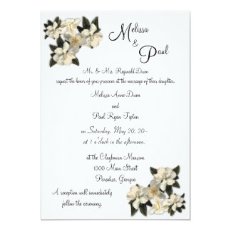 """Magnolias que casan invitaciones invitación 5"""" x 7"""""""
