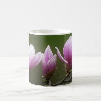 Magnolias rosadas taza clásica