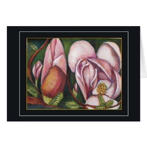 magnolias tarjeta de felicitación
