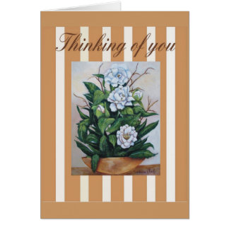 magnolias, thinking of you card