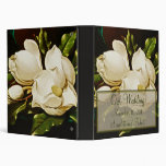 Magnolias Wedding Planner or Photo Album 3 Ring Binders