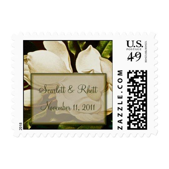 Magnolias Wedding Small Postage