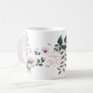 Magnolias with Artful Leaves Garden Mug