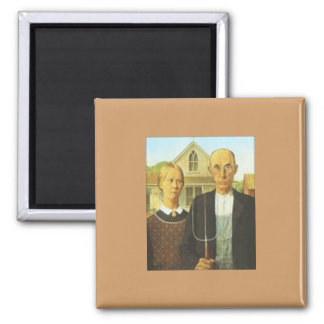 MagnSqure magnet American-Gothic by Grant Wood