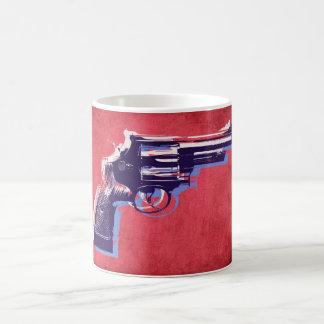 Magnum Revolver on Red Coffee Mug