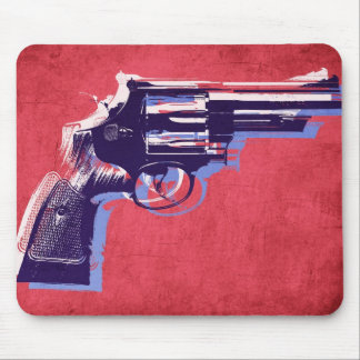 Magnum Revolver on Red Mousepads