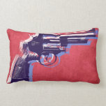 Magnum Revolver on Red Pillows