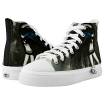 Magnum Time Switch Anime Custom Collector Zipz High-Top Sneakers