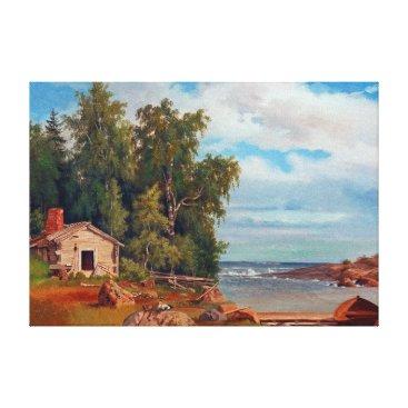 Beach Themed Magnus von Wright Beach Landscape from Lövö Canvas Print