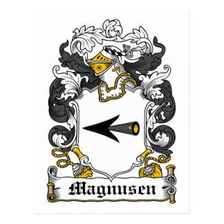 Magnussen Family Crest Postcard