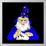 mago azul con el cráneo posters