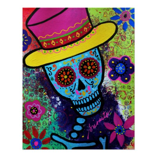 MAGO DAY OF THE DEAD POSTER BY PRISARTS POSTERS