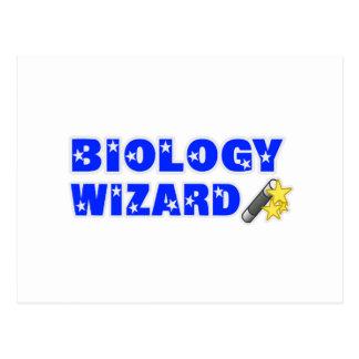 Mago de la biología tarjetas postales