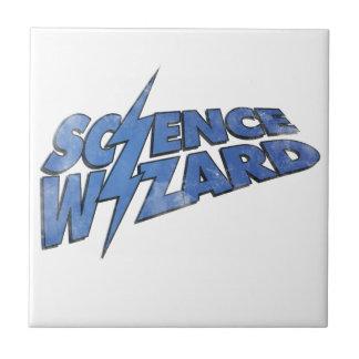 ¡Mago de la ciencia! Azulejo Cuadrado Pequeño