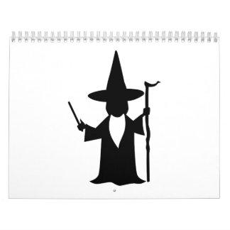 Mago de la fantasía calendarios de pared