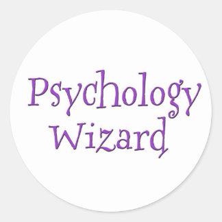 Mago de la psicología etiqueta redonda