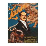 Mago de Laurant, ilusionista, magia del actor Lienzo Envuelto Para Galerias