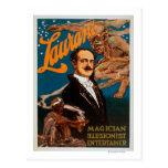 Mago de Laurant, ilusionista, magia del actor Postales
