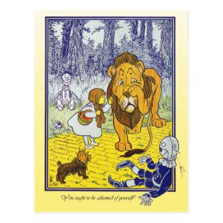 Mago de Oz Dorothy resuelve el león cobarde Postal
