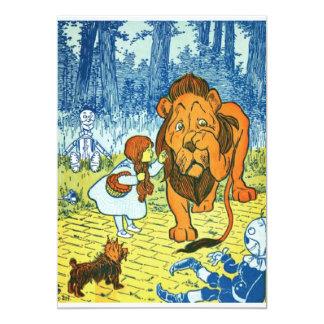 """Mago de Oz Dorothy y el león cobarde Invitación 5"""" X 7"""""""