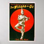 Mago de Oz - hombre 1903 de la lata Poster
