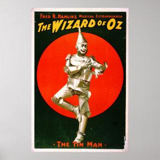 Mago de Oz - hombre 1903 de la lata Póster