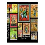Mago de Oz L postales del collage de Frank Baum