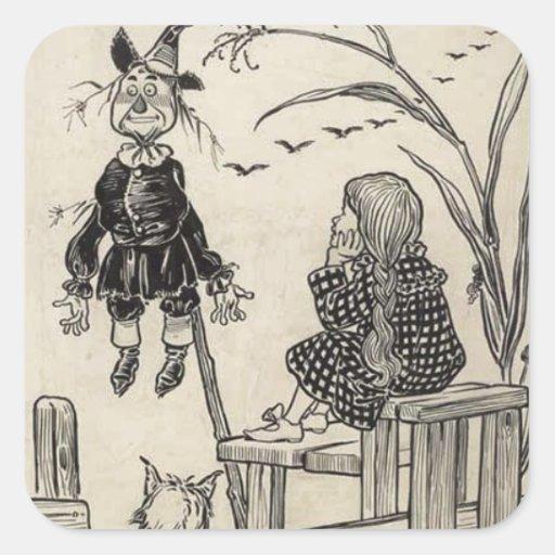 Mago de Oz Pegatina Cuadrada