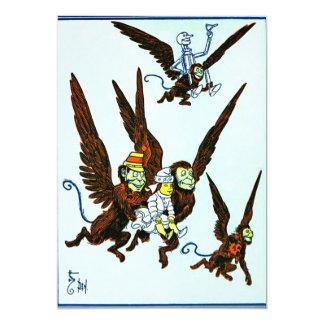 """Mago de Oz se fue volando los monos que volaban Invitación 5"""" X 7"""""""
