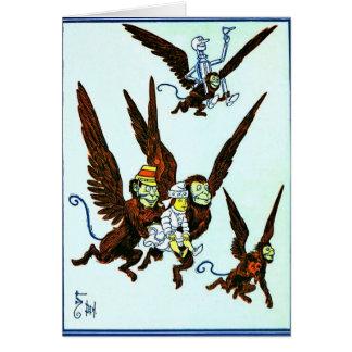 Mago de Oz se fue volando los monos que volaban mo Tarjeta De Felicitación