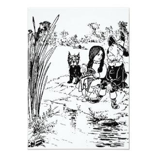 Mago de Oz Toto, Dorothy y espantapájaros Invitacion Personalizada