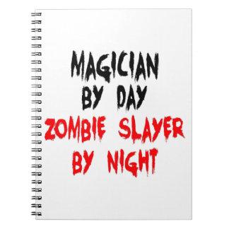 Mago del asesino del zombi del día por noche notebook