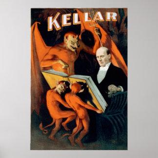 Mago del diablo de Kellar Posters
