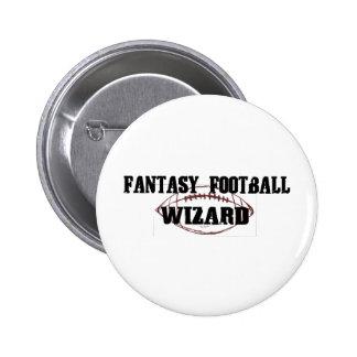 Mago del fútbol de la fantasía pin
